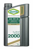 Synthetic 100% Automobile Yacco VX 2000 SAE 0W30